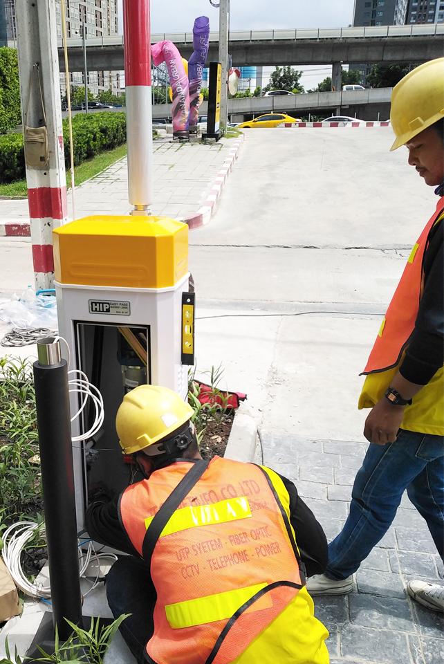 ติดตั้งไม่ไม้กั้นรถยนต์Carpark | Auto Barrier | ระบบ Access Control